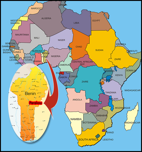 French West Africa Located in West Africa on